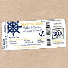 nautical save the date nautical boarding pass save the date or by decorabledesigns