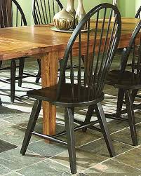 Distressed Black Dining Table Intercon Black Side Chair Rustic Traditions Inrtchn1408 Set Of 2