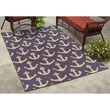 Coastal Indoor Outdoor Rugs Ms Ship Shape Coastal Indoor Outdoor Rug Walmart