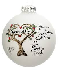 godmother family tree personalized ornament