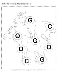 identifying letter g worksheet turtle diary