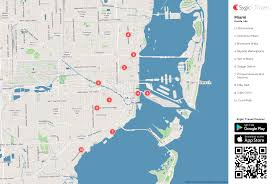 Little Havana Miami Map by Miami Printable Tourist Map Sygic Travel
