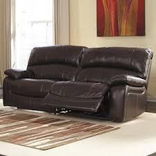 damacio leather power reclining sofa in dark brown nebraska
