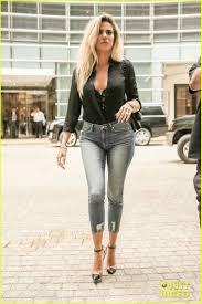 khloe kardashian promotes new denim line in nyc photo 3765802