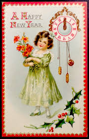 new year s postcards ekduncan my fanciful muse happy new year vintage raphael tuck