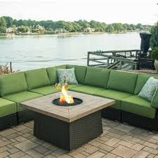 Newport Wicker Patio Furniture Agio Newport Beach Gas Fire Pit