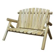 Wood Patio Chair by Unfinished Wood Outdoor Benches Patio Chairs The Home Depot