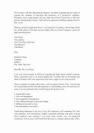 Cover Letter Sample for Job Application Unique Cover Letter for