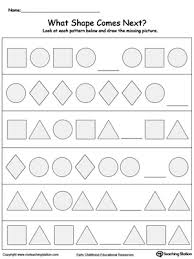 geometric patterns what comes next geometry worksheets