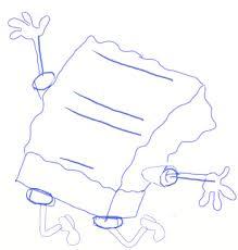 how to draw spongebob draw step by step