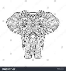 t shirt coloring page elephant antistress coloring page black stock vector
