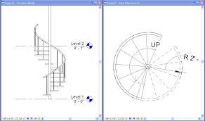 spiral staircase floor plan spiral stair autodesk community