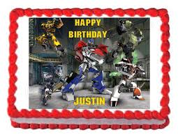 transformers cake decorations transformers prime edible party cake topper cake image sheet