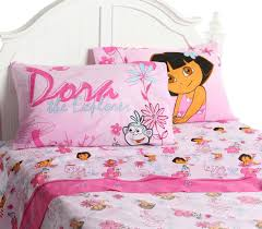 pink cotton pillowcase and flower mixed striped pattern bed linen