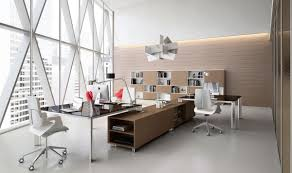 contemporary minimalist office design with stylish office tables