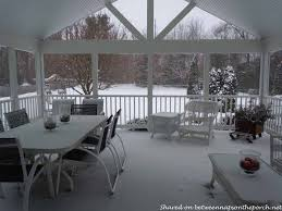 a screened porch addition for a new england home