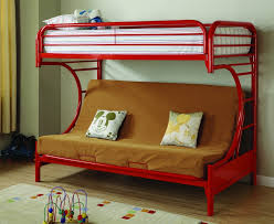Full Over Full Futon Bunk Bed by Save Big On Bearcat Twin Over Full Futon Metal Bunk Bed Red