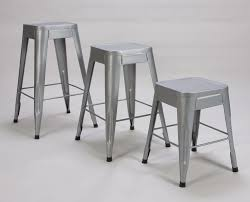homelegance amara metal stool in silver beyond stores