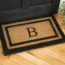 Welcome Doormats Classic Monogrammed Welcome Doormat U0026 Reviews Birch Lane