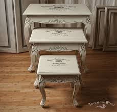new arrival shabby chic french style nest of tables no 23 touch