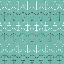 anchor wrapping paper ship anchor in shapes of heart nautical sign symbol seamless