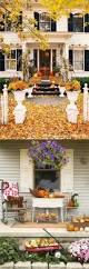 fall porch or patio pumpkin display with bales of hay wedding