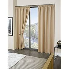 thermal blackout curtains black 66 inch x 54 inch pencil pleat