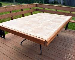 Replacement Glass Table Tops For Patio Furniture by Remodelaholic How To Replace A Patio Table Top With Tile