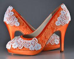 wedding shoes etsy orange wedding shoes etsy