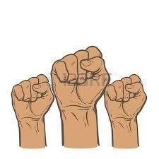 many a man u0027s fist on a red background illustration sketch of