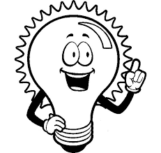 Light Bulb Shining For An Idea Coloring Pages Download Print Light Coloring Page