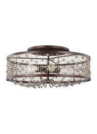 crystal semi flush mount lighting vintage ceiling light glass shade flush mount crystal chandelier