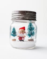 santa in a jar homemade snow globes vintage jars and snow