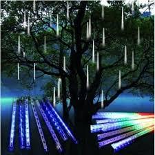led christmas lights ebay meteor shower falling star rain drop icicle snow fall led xmas tree
