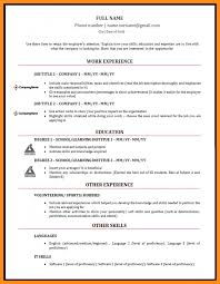 Full Word For Cv 6 Curriculum Vitae Em Word Resume Setups