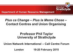Plus Ca Change Plus La Meme Chose - department of human resource management plus ca change plus la
