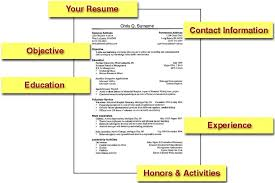 Resume Examples For Kids by Electronic Resume Resume Example
