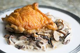 turkey and mushroom gravy recipe chicken with creamy mushroom sauce recipe simplyrecipes com