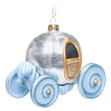 cinderella pumpkin carriage glass ornament shopdisney