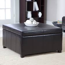 Grey Fabric Storage Ottoman with Coffe Table Oversized Ottoman Small Coffee Tables Tufted Table