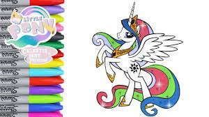 my little pony color book my little pony coloring book pages princess celestia mlp video for