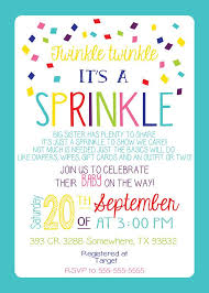 baby sprinkle invitation girl version any color couples pink