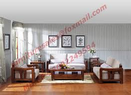 Wooden Frame Sofa Set Classic Solid Wooden Carving Frame With Italy Leather Upholstery