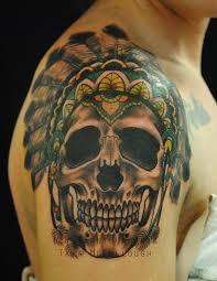 Amazing Skull - 73 stylish skull shoulder tattoos