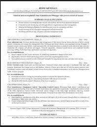 sample resume heavy equipment operator construction management