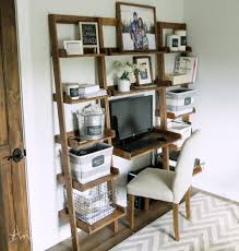 white simple desk ana white leaning wall ladder desk diy projects