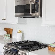 White Kitchen Backsplash Tiles Glass Herringbone Tiles Contemporary Kitchen Milk And Honey Home