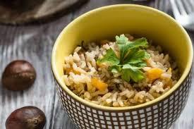 chataigne cuisine recette de risotto à la châtaigne bouillon de safran rapide