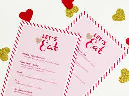 valentine u0027s day menu template sarah hearts