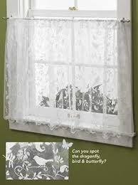 Bird Lace Curtains Lace Kitchen Curtains Yellow Lace Curtains Tier By Hatchedinfrance